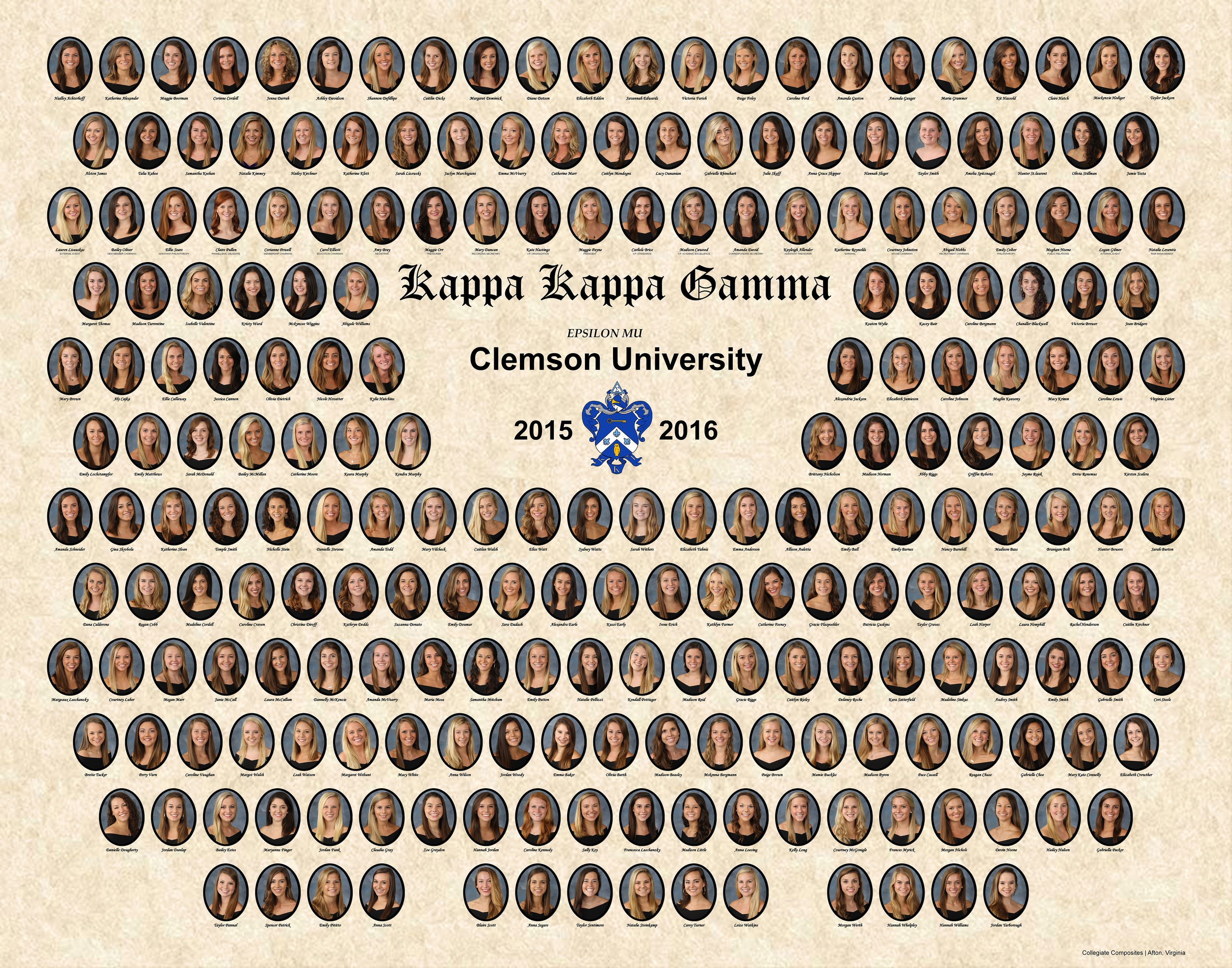 Clemson Univ. Kappa Kappa Gamma Print Fall 2015.jpg