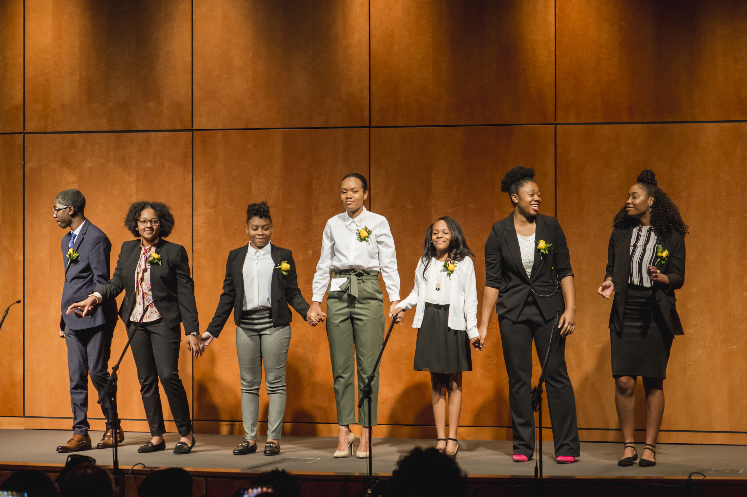 """The 2018 Youth of the Year, performing a rendition of """"One Day."""""""