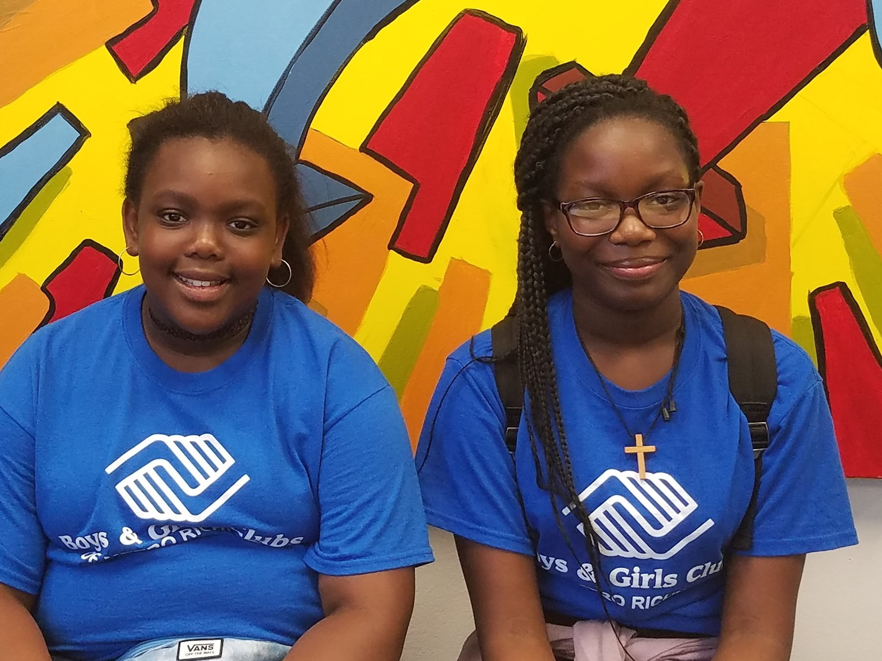 Marylord (right) and Jasmine (left), both from Southside, were regional finalists in the National Arts contests