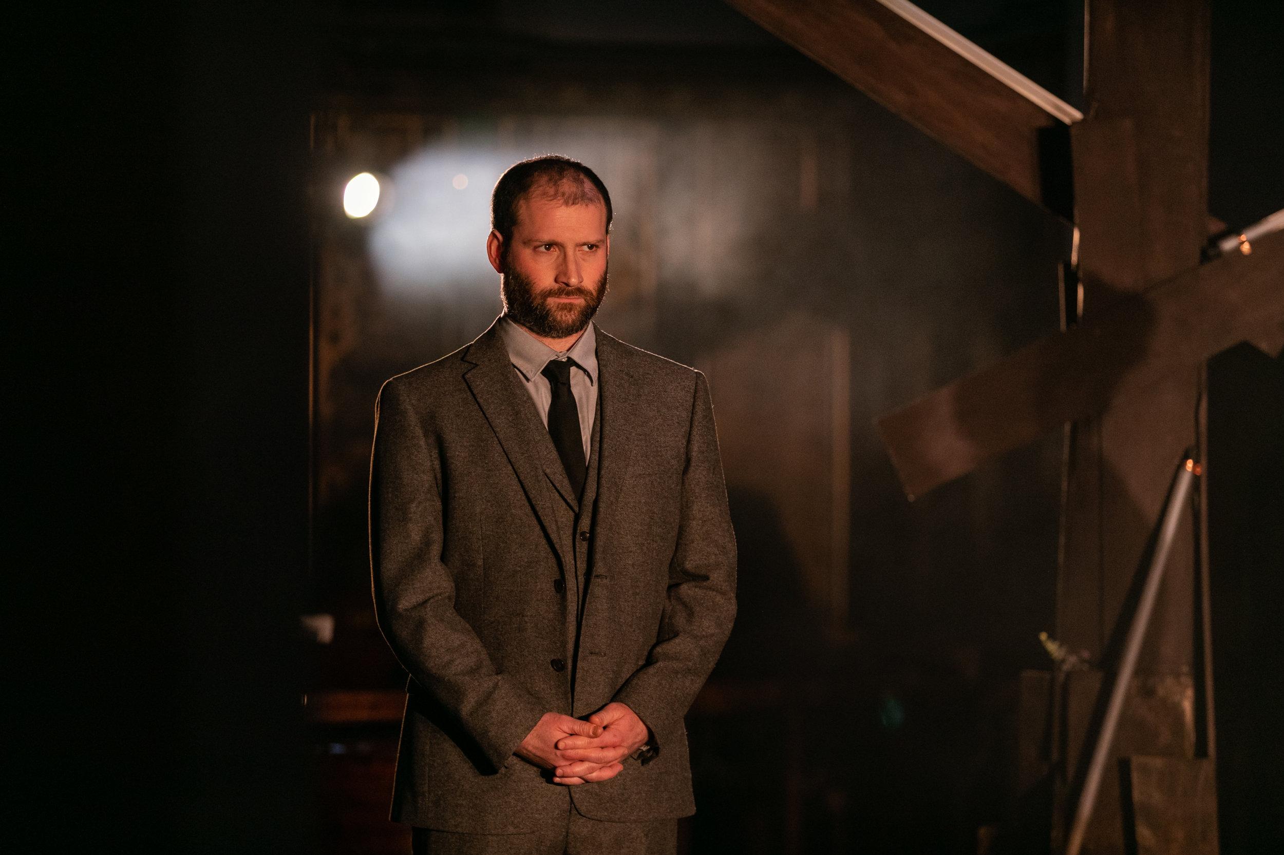 Julian Debreuil as Lord Talbot 2 Maria Stuarda OperaUpClose 2019.jpg