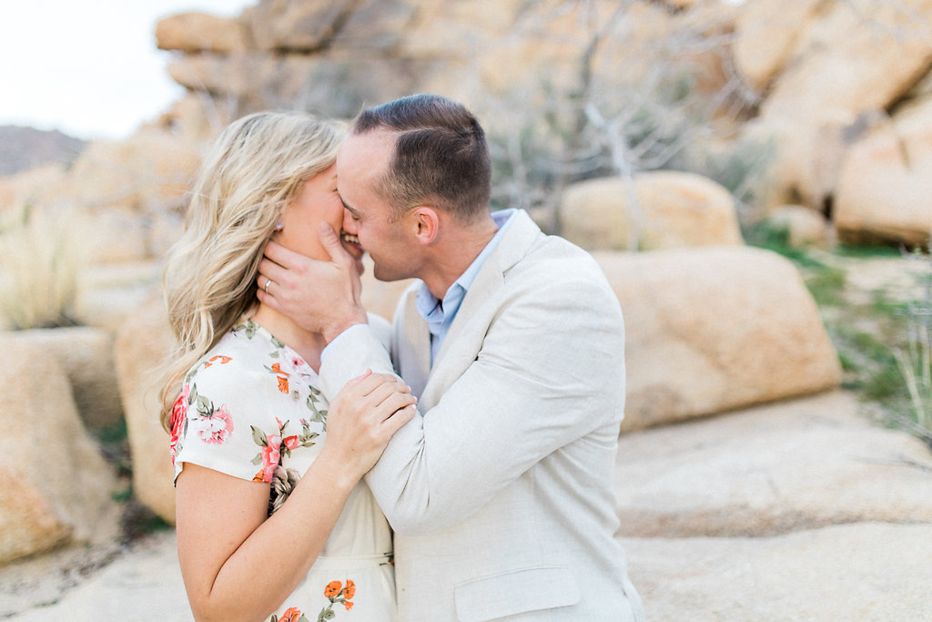 Joshua Tree Engagement Session | What to Wear for Pictures | Southern California Wedding Photographer | Mastin Labs Fuji Film | Fine Art Photographer | Desert Shoot  | Slow Kiss.jpg
