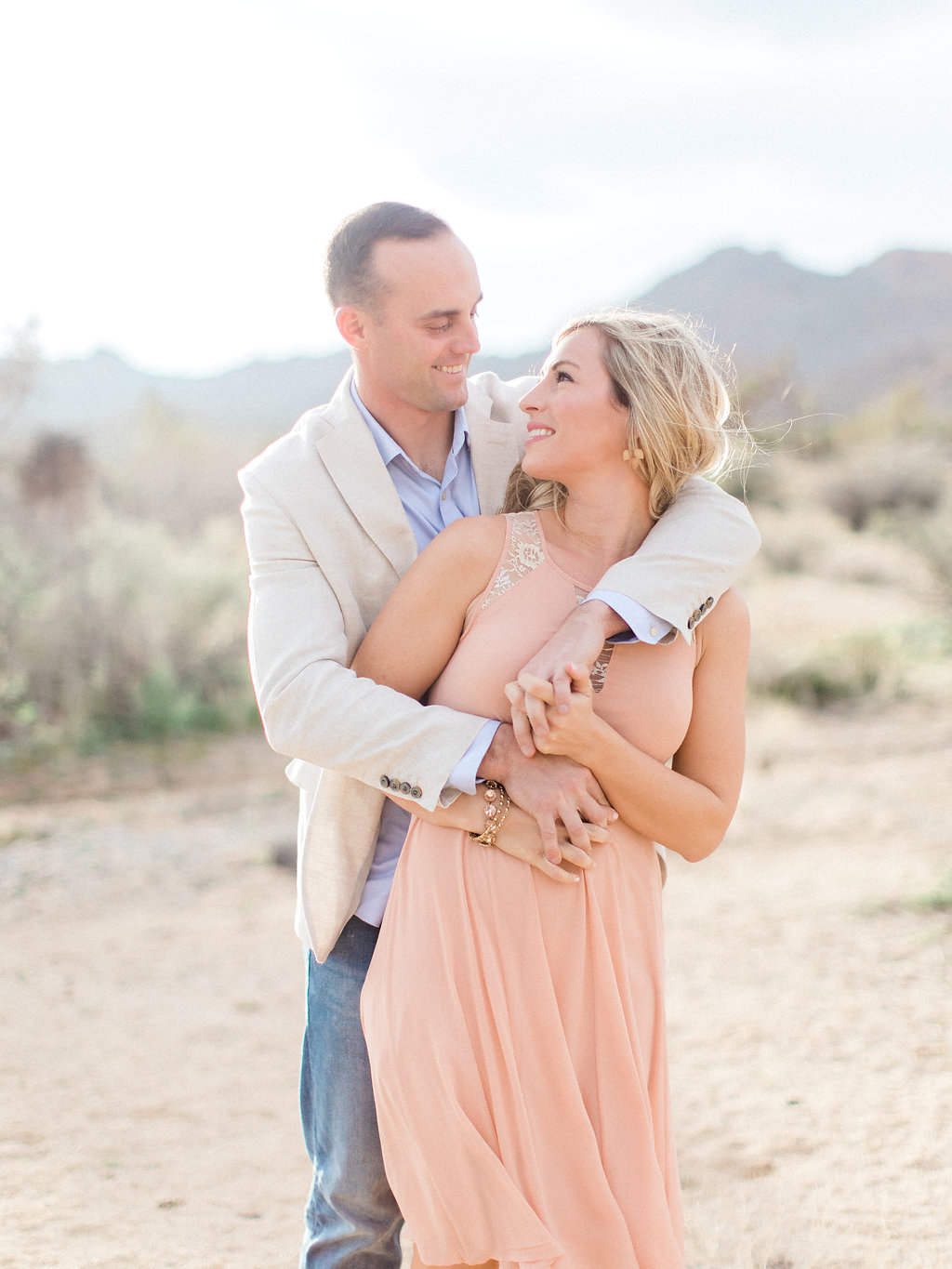 Joshua Tree Engagement Session | What to Wear for Pictures | Southern California Wedding Photographer | Mastin Labs Fuji Film | Fine Art Photographer | Desert Shoot | Couple in Love | Marine.jpg
