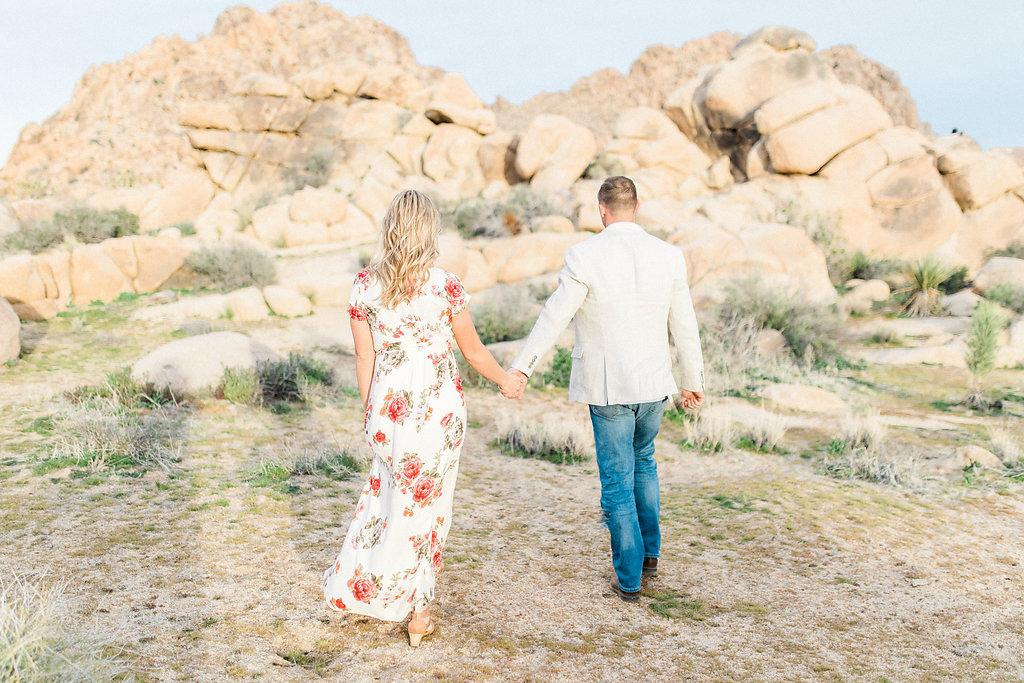 Joshua Tree Engagement Session | What to Wear for Pictures | Southern California Wedding Photographer | Mastin Labs Fuji Film | Fine Art Photographer | Desert Shoot | Desert Walk.jpg