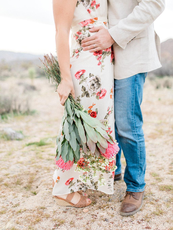 Joshua Tree Engagement Session | What to Wear for Pictures | Southern California Wedding Photographer | Mastin Labs Fuji Film | Fine Art Photographer | Desert Shoot | Gorgeous Desert Flowers.jpg
