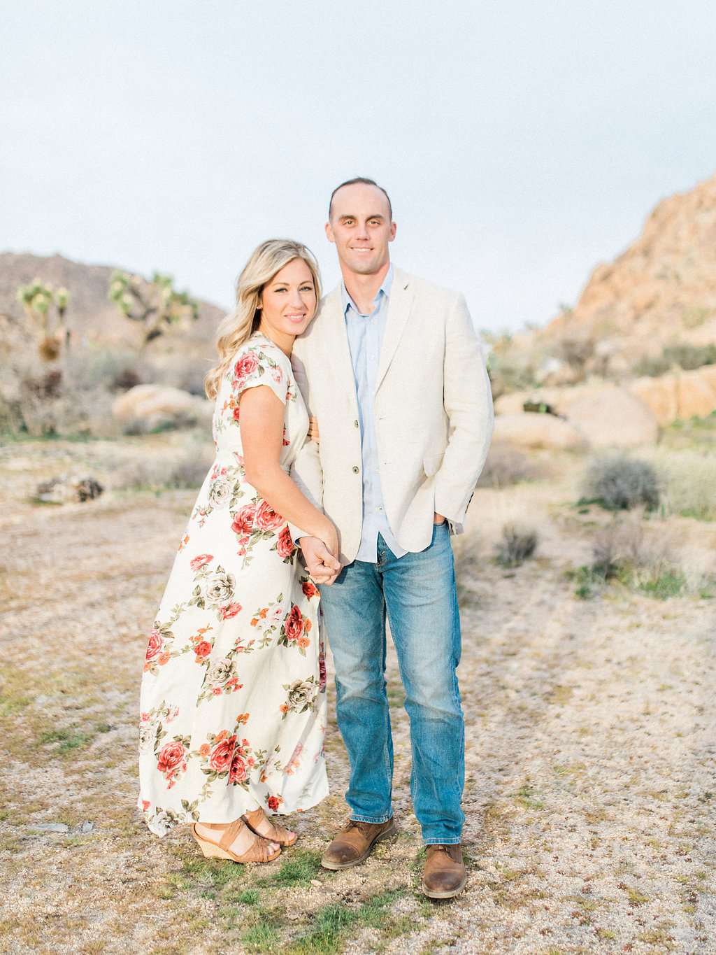Joshua Tree Engagement Session | What to Wear for Pictures | Southern California Wedding Photographer | Mastin Labs Fuji Film | Fine Art Photographer | Desert Shoot | Hand in Hand Posing.jpg