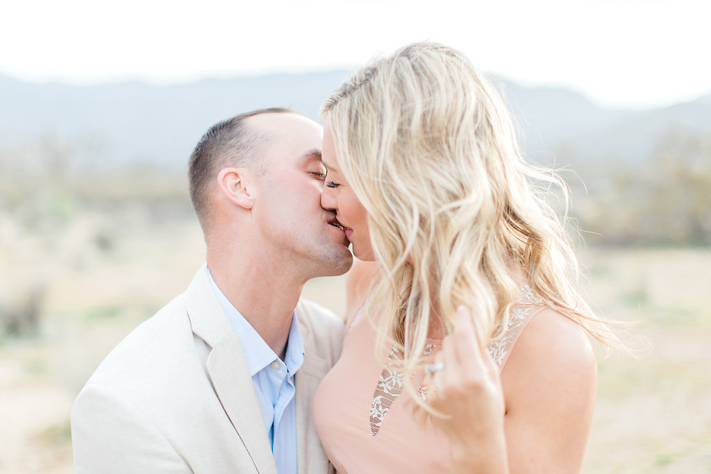 Joshua Tree Engagement Session | What to Wear for Pictures | Southern California Wedding Photographer | Mastin Labs Fuji Film | Fine Art Photographer | Desert Shoot | Kiss Shot.jpg