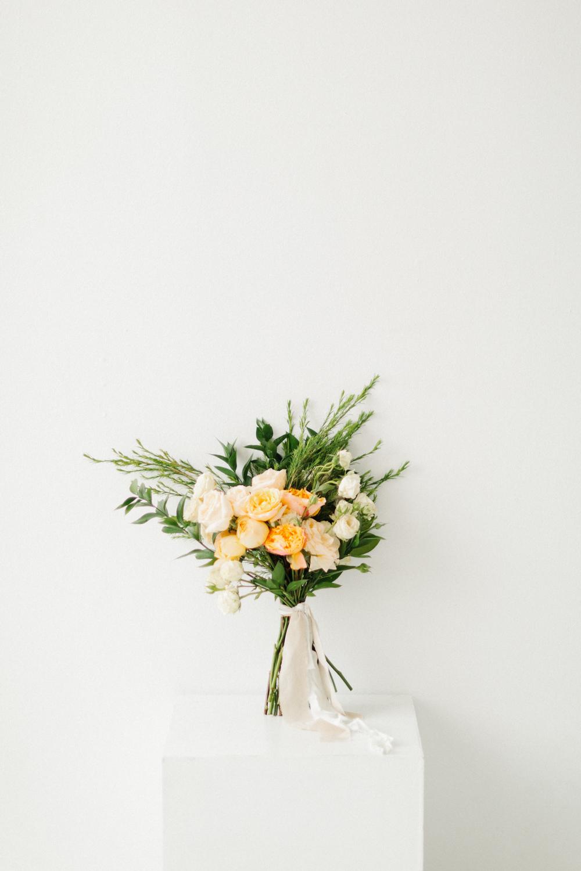 Seattle Fine Art Wedding Photographer | Seattle Downtown White Studio Bridal Session | Stunning Wedding Bouquet | Seattle Bride | Seattle Wedding | Photography Studio Space | Emma Rose Company Wedding Photography-1.jpg
