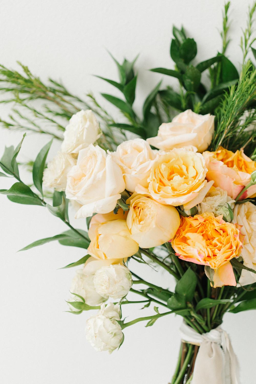 Seattle Fine Art Wedding Photographer | Seattle Downtown White Studio Bridal Session | Stunning Wedding Bouquet | Seattle Bride | Seattle Wedding | Photography Studio Space | Emma Rose Company Wedding Photography-4.jpg