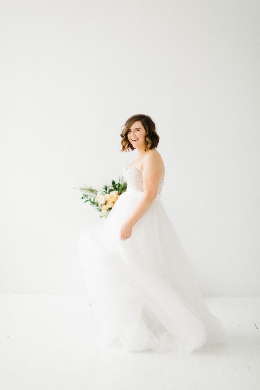 Seattle Fine Art Wedding Photographer | Seattle Downtown White Studio Bridal Session | Stunning Wedding Bouquet | Seattle Bride | Seattle Wedding | Photography Studio Space | Emma Rose Company Wedding Photography-6.jpg