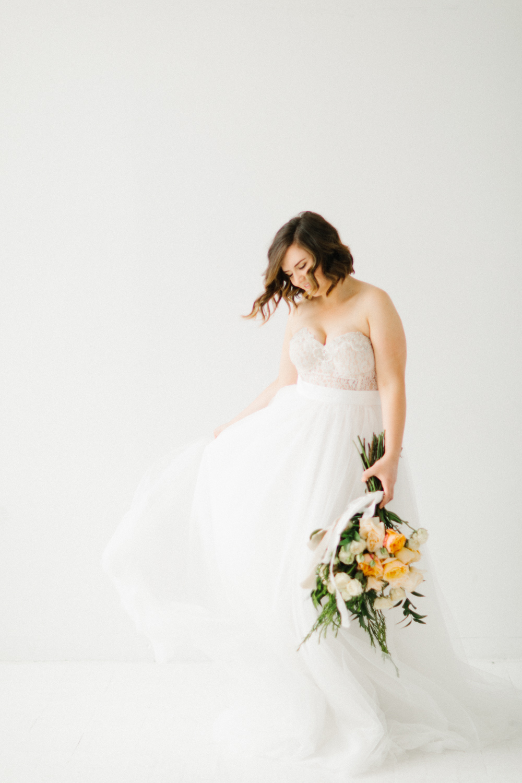 Seattle Fine Art Wedding Photographer | Seattle Downtown White Studio Bridal Session | Stunning Wedding Bouquet | Seattle Bride | Seattle Wedding | Photography Studio Space | Emma Rose Company Wedding Photography-8.jpg