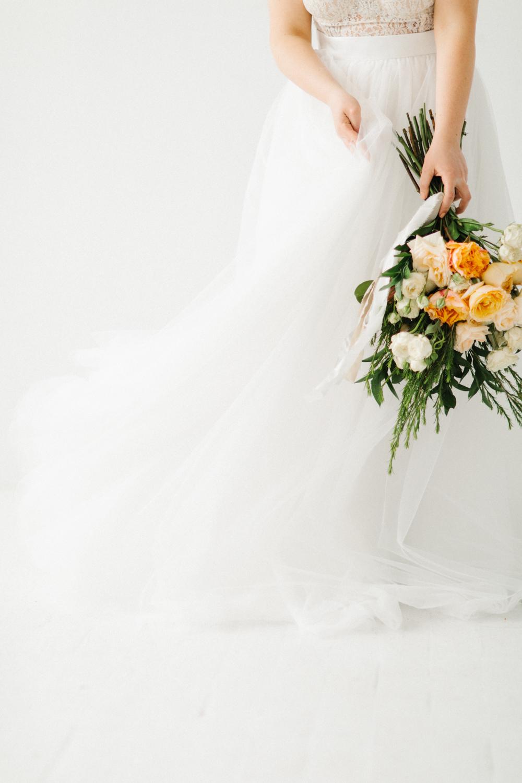 Seattle Fine Art Wedding Photographer | Seattle Downtown White Studio Bridal Session | Stunning Wedding Bouquet | Seattle Bride | Seattle Wedding | Photography Studio Space | Emma Rose Company Wedding Photography-10.jpg