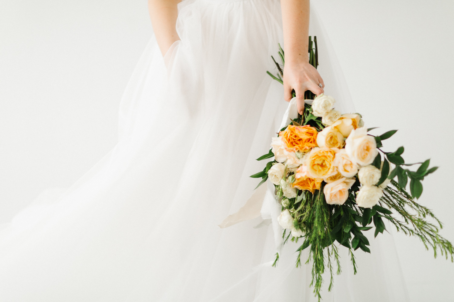 Seattle Fine Art Wedding Photographer | Seattle Downtown White Studio Bridal Session | Stunning Wedding Bouquet | Seattle Bride | Seattle Wedding | Photography Studio Space | Emma Rose Company Wedding Photography-9.jpg