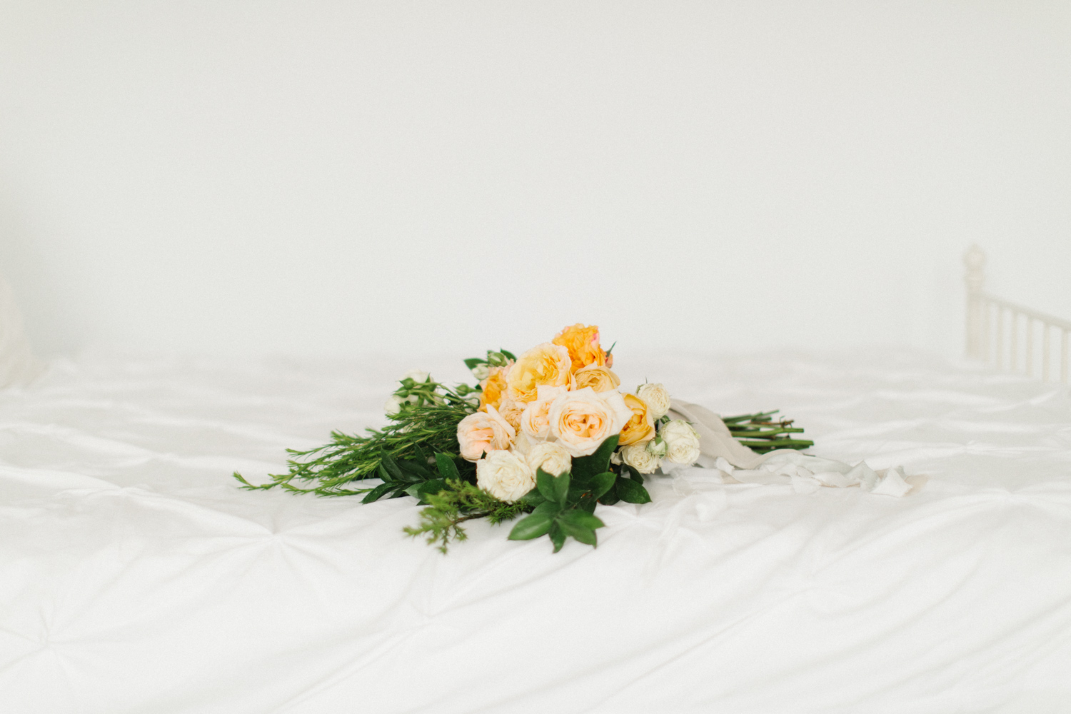Seattle Fine Art Wedding Photographer | Seattle Downtown White Studio Bridal Session | Stunning Wedding Bouquet | Seattle Bride | Seattle Wedding | Photography Studio Space | Emma Rose Company Wedding Photography-11.jpg