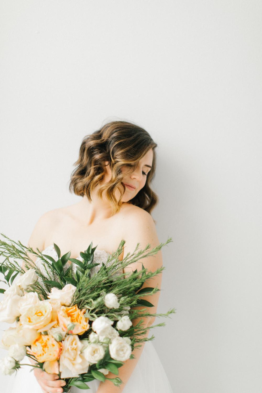 Seattle Fine Art Wedding Photographer | Seattle Downtown White Studio Bridal Session | Stunning Wedding Bouquet | Seattle Bride | Seattle Wedding | Photography Studio Space | Emma Rose Company Wedding Photography-18.jpg