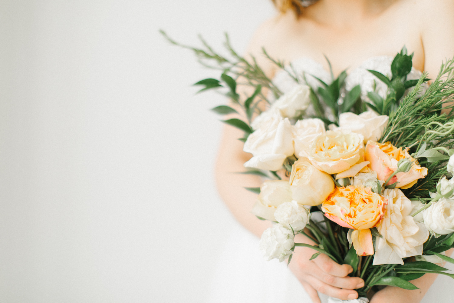 Seattle Fine Art Wedding Photographer | Seattle Downtown White Studio Bridal Session | Stunning Wedding Bouquet | Seattle Bride | Seattle Wedding | Photography Studio Space | Emma Rose Company Wedding Photography-21.jpg
