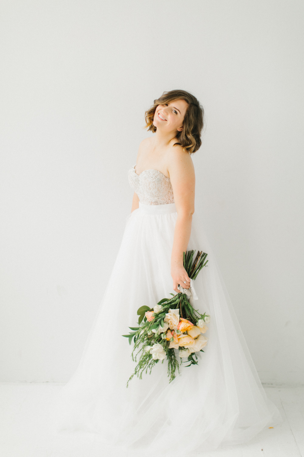 Seattle Fine Art Wedding Photographer | Seattle Downtown White Studio Bridal Session | Stunning Wedding Bouquet | Seattle Bride | Seattle Wedding | Photography Studio Space | Emma Rose Company Wedding Photography-25.jpg