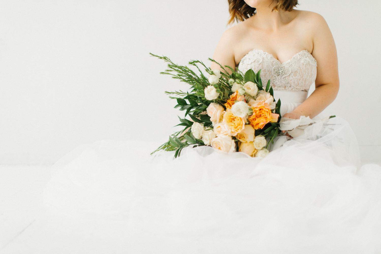 Seattle Fine Art Wedding Photographer | Seattle Downtown White Studio Bridal Session | Stunning Wedding Bouquet | Seattle Bride | Seattle Wedding | Photography Studio Space | Emma Rose Company Wedding Photography-31.jpg