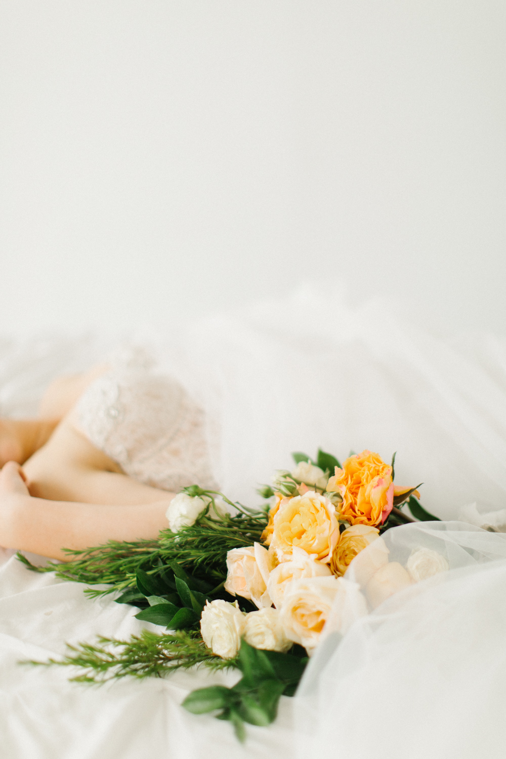 Seattle Fine Art Wedding Photographer | Seattle Downtown White Studio Bridal Session | Stunning Wedding Bouquet | Seattle Bride | Seattle Wedding | Photography Studio Space | Emma Rose Company Wedding Photography-36.jpg