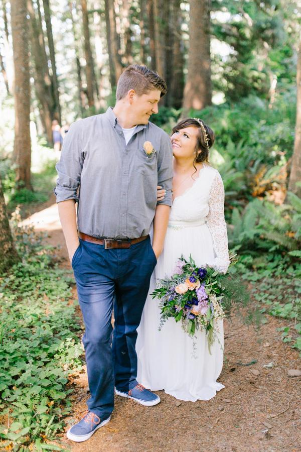 Oceanside Oregon Beach Wedding Details | Mermaid Wedding | Oregon Wedding on the Coast | Oregon Bride | Wedding Details | Bridal Party Portraits | Forest First Look-25.jpg
