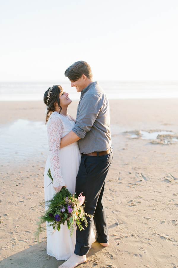 Oceanside Oregon Beach Wedding | Sunset Portraits by the Ocean | Oregon Bride | Oregon Wedding Photography | Wedding on the Beach | Bride and Groom Beach Portraits-2.jpg