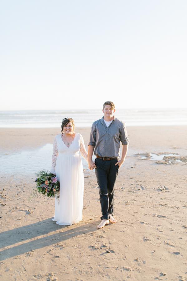 Oceanside Oregon Beach Wedding | Sunset Portraits by the Ocean | Oregon Bride | Oregon Wedding Photography | Wedding on the Beach | Bride and Groom Beach Portraits-3.jpg