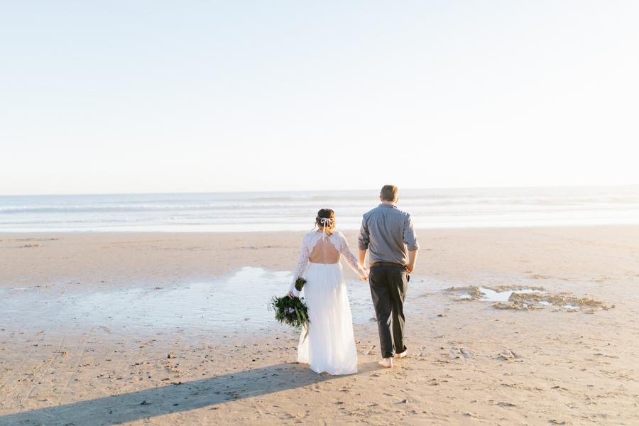 Oceanside Oregon Beach Wedding | Sunset Portraits by the Ocean | Oregon Bride | Oregon Wedding Photography | Wedding on the Beach | Bride and Groom Beach Portraits-6.jpg