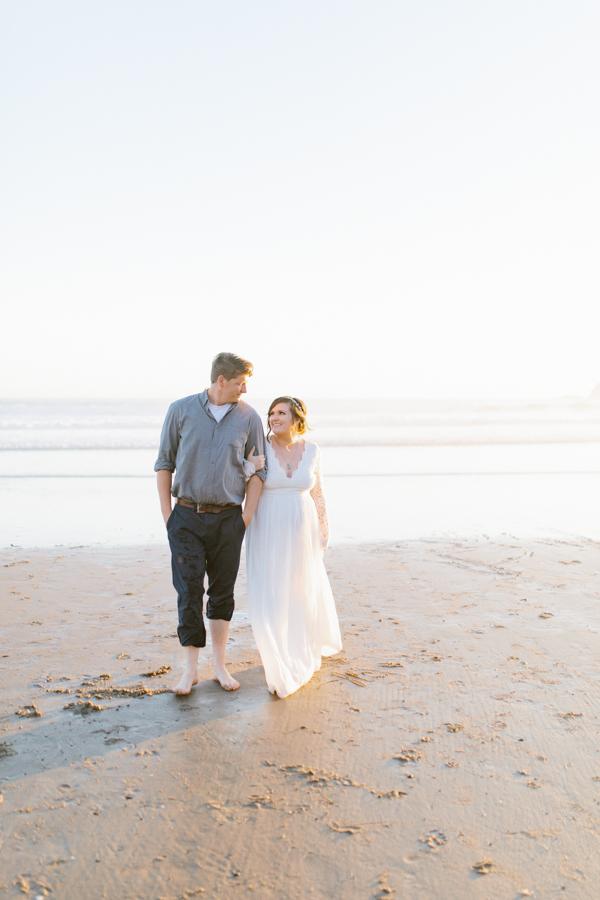 Oceanside Oregon Beach Wedding | Sunset Portraits by the Ocean | Oregon Bride | Oregon Wedding Photography | Wedding on the Beach | Bride and Groom Beach Portraits-24.jpg