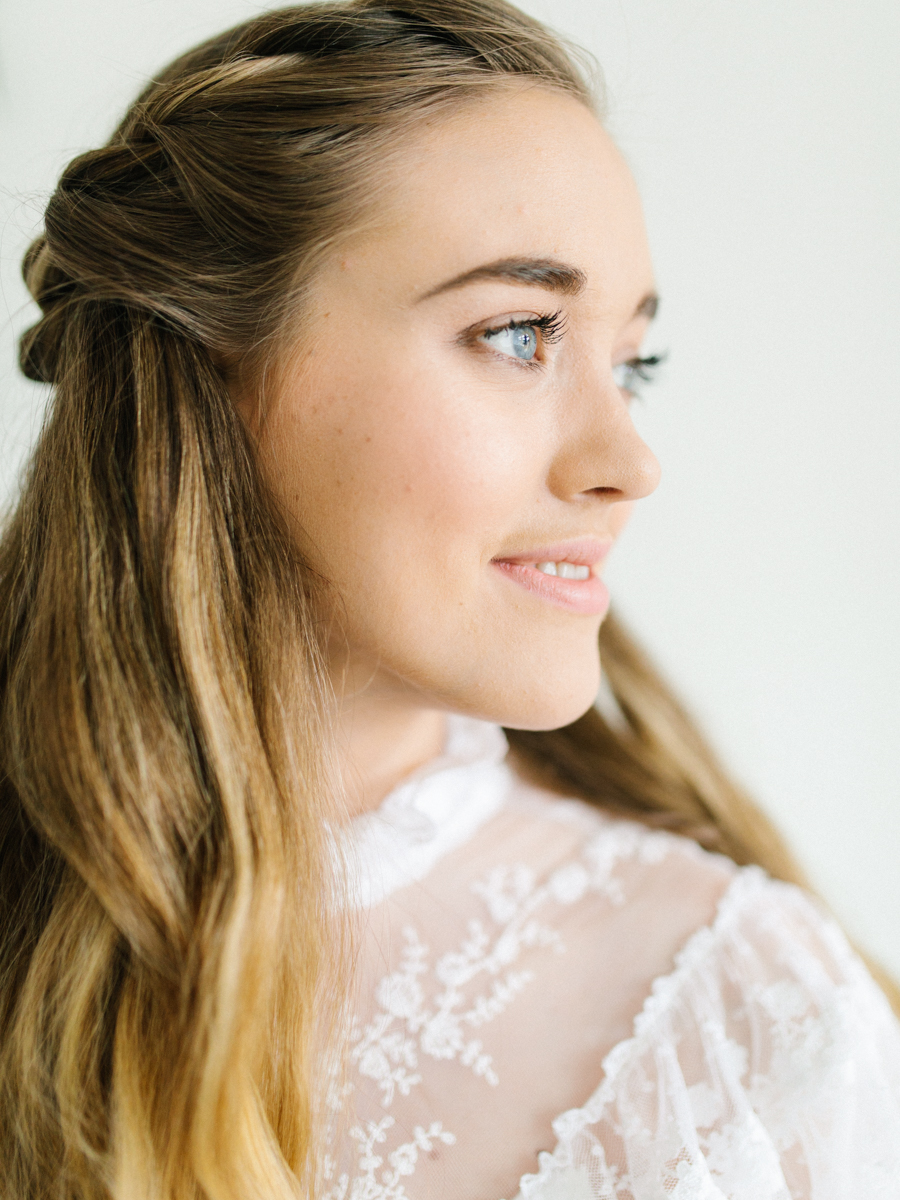 Studio Inspired Styled Shoot Behind the Scenes | How to put together a styled shoot | Rhodesia Flower Florist South Bend, Washington | Emma Rose Company Studio Session | VSCO | Grey Session | White Vintage Lace Wedding Gown-5.jpg