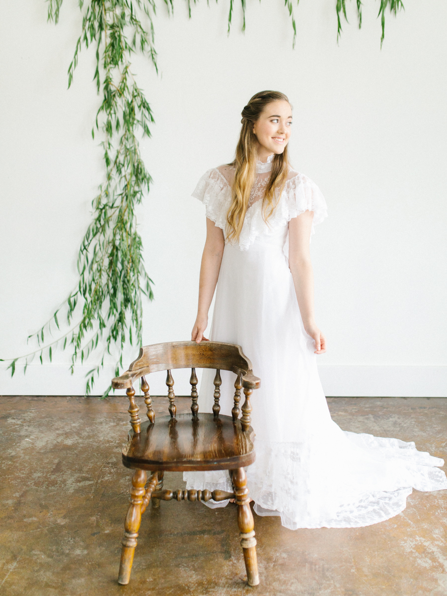 Studio Inspired Styled Shoot Behind the Scenes | How to put together a styled shoot | Rhodesia Flower Florist South Bend, Washington | Emma Rose Company Studio Session | VSCO | Grey Session | White Vintage Lace Wedding Gown-15.jpg