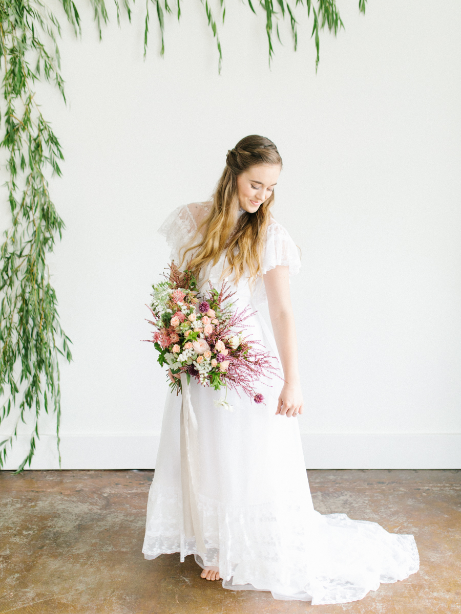 Studio Inspired Styled Shoot Behind the Scenes | How to put together a styled shoot | Rhodesia Flower Florist South Bend, Washington | Emma Rose Company Studio Session | VSCO | Grey Session | White Vintage Lace Wedding Gown-16.jpg