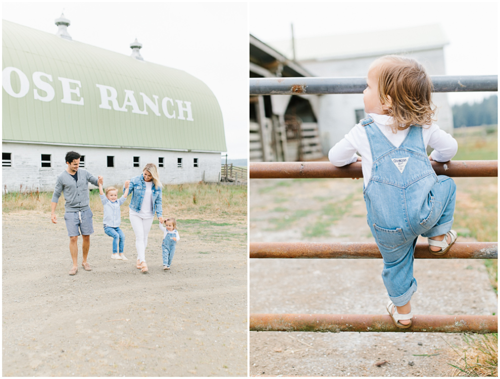 Rose Ranch Family Photo Session | Monika Hibbs Family Session in South Bend, Washington | What to Wear for Family Pictures | Pacific Northwest Family Session with Emma Rose Company | Osh Kosh Overalls Baby Girl.jpg