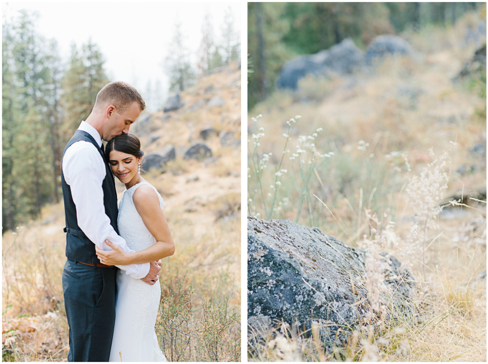 Grey and White Wedding in the Mountains of Leavenworth, Washington | Sleeping Lady | Classic and Timeless Wedding | VSCO | Bride and Groom First Look.jpg