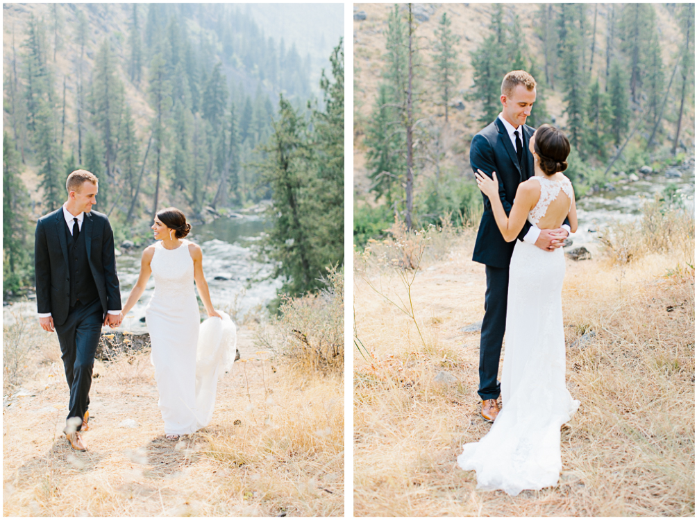 Grey and White Wedding in the Mountains of Leavenworth, Washington | Sleeping Lady | Classic and Timeless Wedding | VSCO | First Look.jpg
