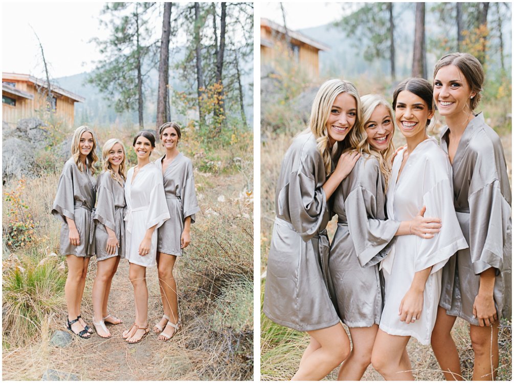 Grey and White Wedding in the Mountains of Leavenworth, Washington | Sleeping Lady | Classic and Timeless Wedding | VSCO | Gorgeous Grey Silk Bridesmaids Robes.jpg