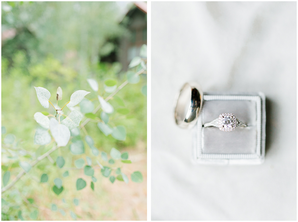 Grey and White Wedding in the Mountains of Leavenworth, Washington | Sleeping Lady | Classic and Timeless Wedding | VSCO | The Mrs Box | Wedding Ring Details.jpg