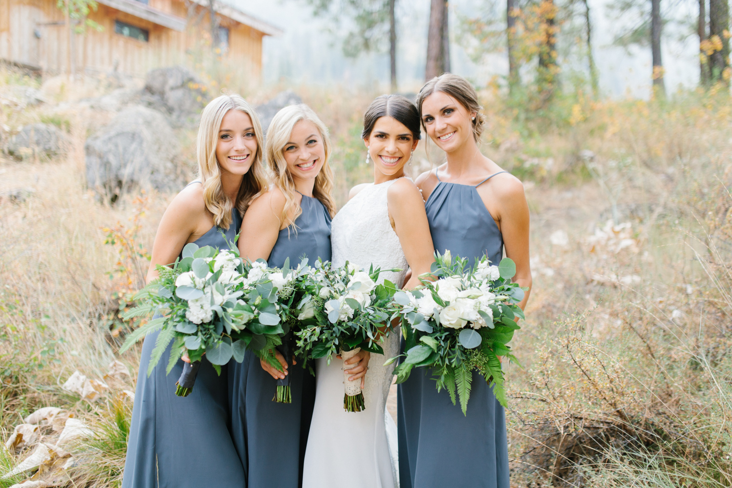 Grey and White Wedding in the Mountains of Leavenworth, Washington | Sleeping Lady | Classic and Timeless Wedding | VSCO | Bride with Bridesmaids | Grey Bridesmaids Dresses.jpg-2219.jpg