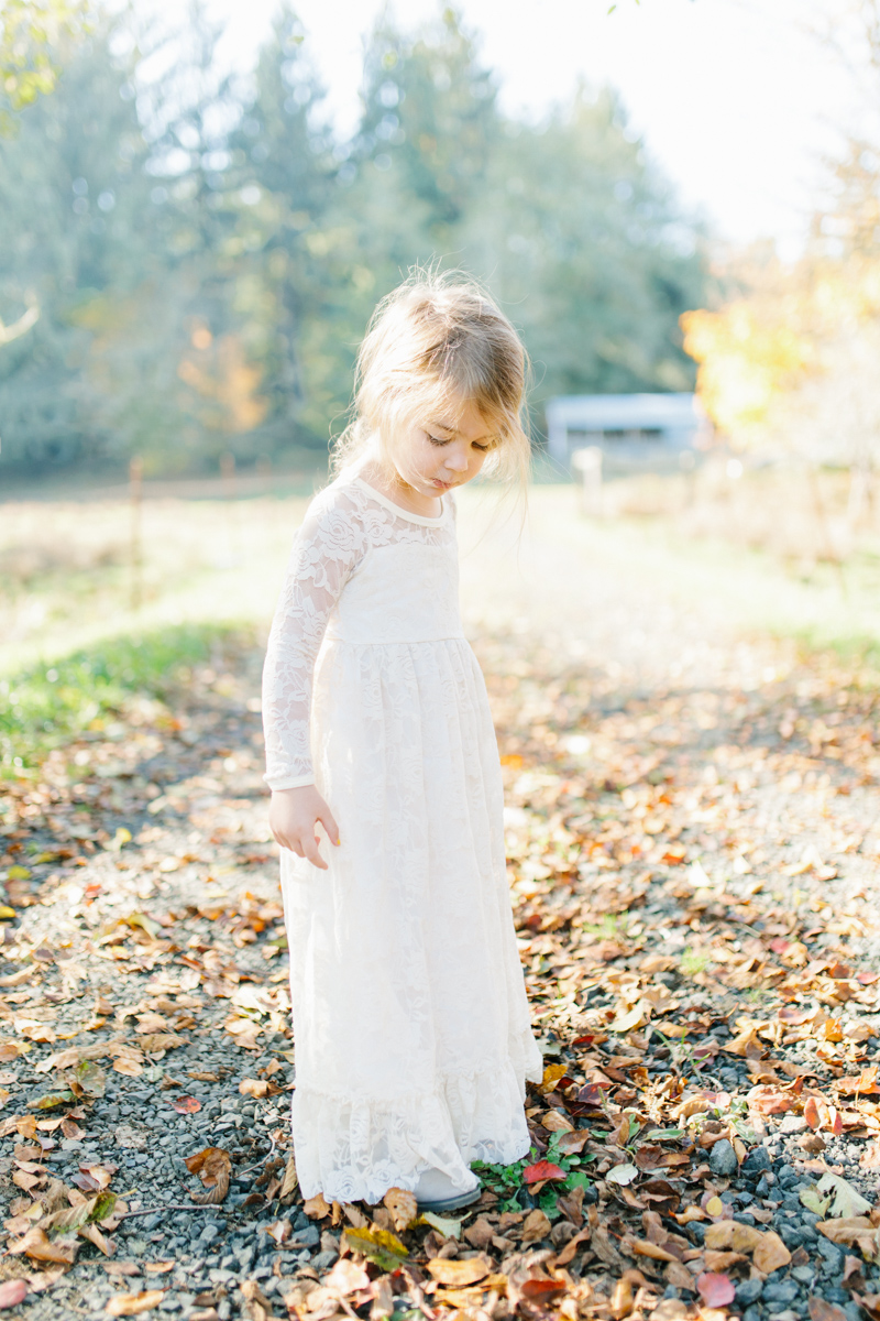 The most perfect fall photo shoot with toddler girl | What to wear to family pictures | Toddler girl in lace dress in woods and fields photo shoot | VSCO | Emma Rose Company | Toddler Outfit Inspiration | Long Lace Dress on Little Girl-1.jpg