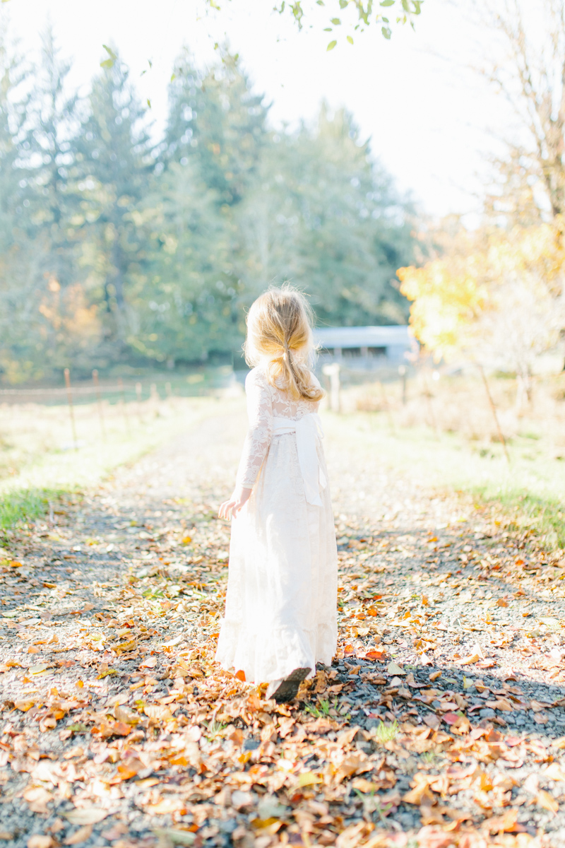 The most perfect fall photo shoot with toddler girl | What to wear to family pictures | Toddler girl in lace dress in woods and fields photo shoot | VSCO | Emma Rose Company | Toddler Outfit Inspiration | Long Lace Dress on Little Girl-2.jpg