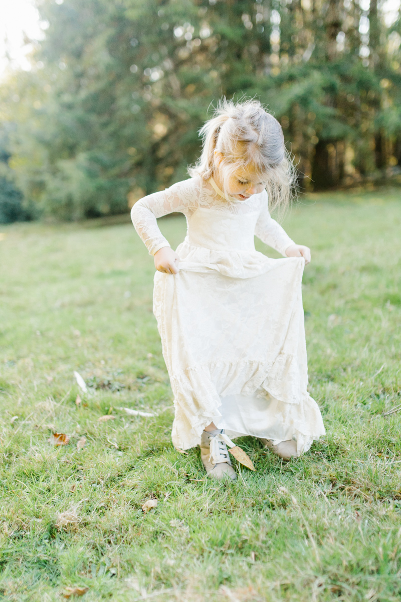 The most perfect fall photo shoot with toddler girl | What to wear to family pictures | Toddler girl in lace dress in woods and fields photo shoot | VSCO | Emma Rose Company | Toddler Outfit Inspiration | Long Lace Dress on Little Girl-5.jpg