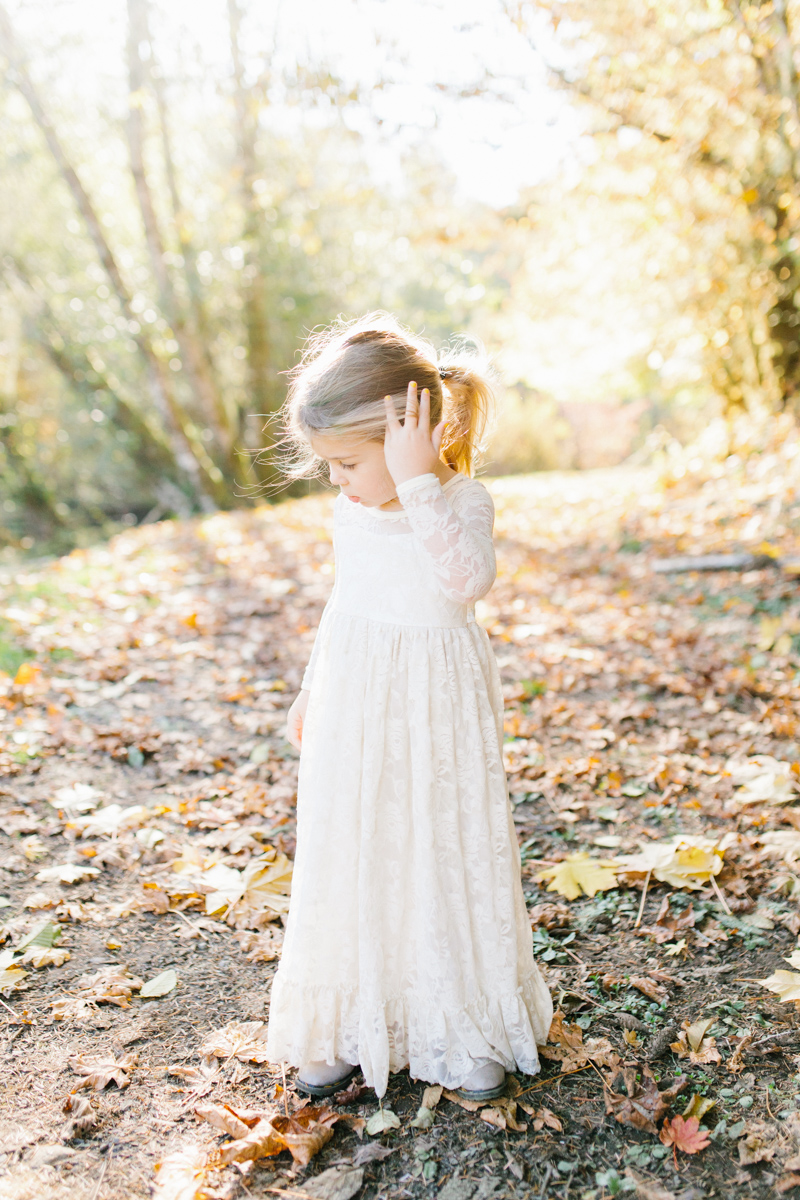 The most perfect fall photo shoot with toddler girl | What to wear to family pictures | Toddler girl in lace dress in woods and fields photo shoot | VSCO | Emma Rose Company | Toddler Outfit Inspiration | Long Lace Dress on Little Girl-18.jpg