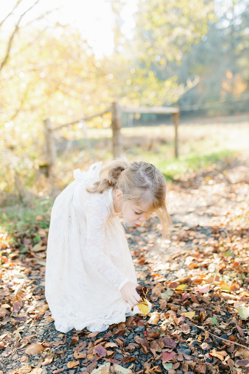 The most perfect fall photo shoot with toddler girl | What to wear to family pictures | Toddler girl in lace dress in woods and fields photo shoot | VSCO | Emma Rose Company | Toddler Outfit Inspiration | Long Lace Dress on Little Girl-27.jpg