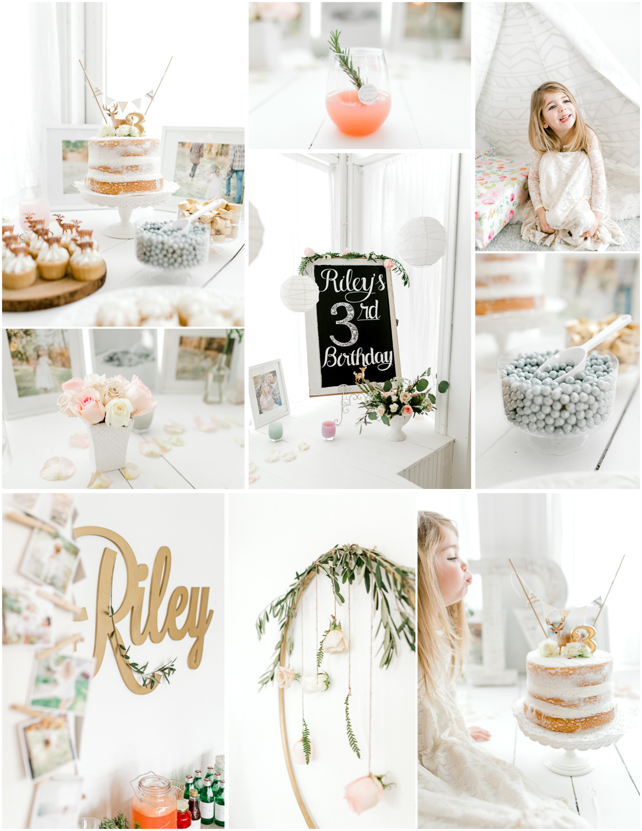 Emma Rose Company | Seattle Portrait and Wedding Photographer | Light and Airy photographer | The Most Darling Third Birthday Party | Deer Themed Birthday Party