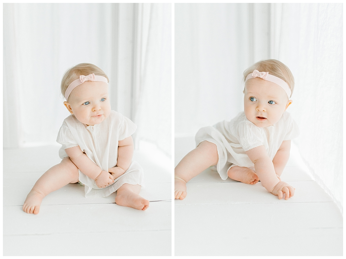 The Sweetest Six Month Old Studio Session | Emma Rose Company | Seattle Lifestyle Photographer | Cute Baby Bows Baby Girl Studio Session.jpg