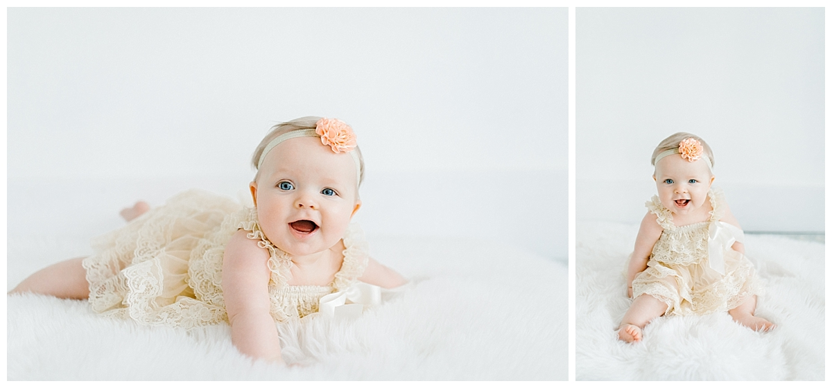 The Sweetest Six Month Old Studio Session | Emma Rose Company | Seattle Lifestyle Photographer Baby Girl Sitting Up.jpg
