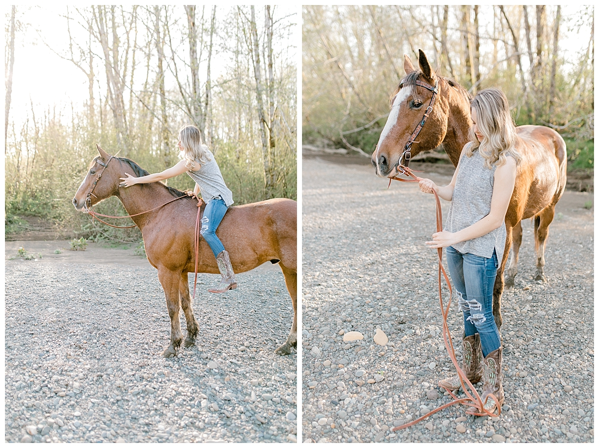 Sunset Senior Session with Horse | Senior Session Inspiration Session | Horse Photo Session | Pacific Northwest Light and Airy Wedding and Portrait Photographer | Emma Rose Company | Kindred Presets Sunset Horse Session.jpg