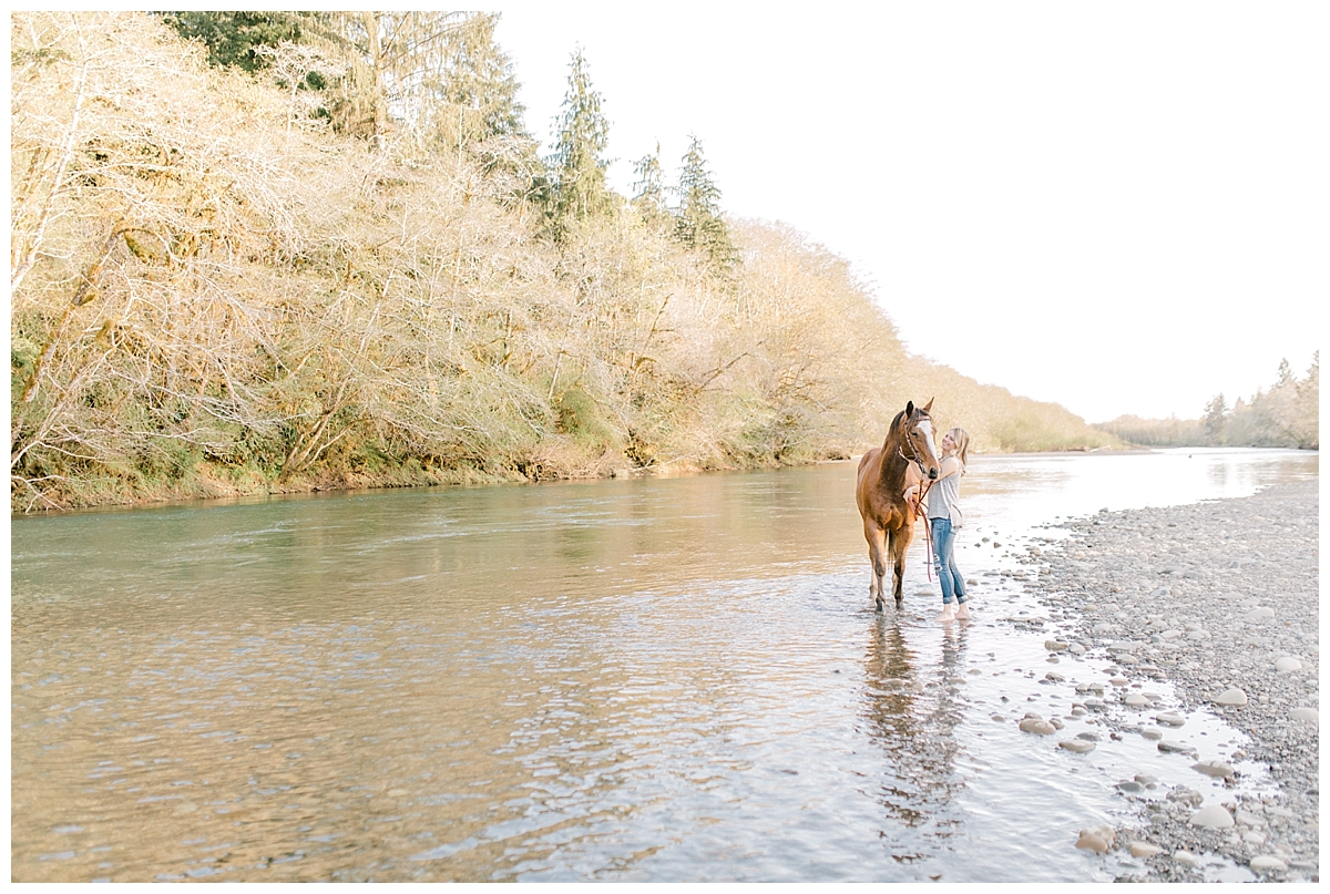 Sunset Senior Session with Horse | Senior Session Inspiration Session | Horse Photo Session | Pacific Northwest Light and Airy Wedding and Portrait Photographer | Emma Rose Company | Kindred Presets Chasing Light.jpg