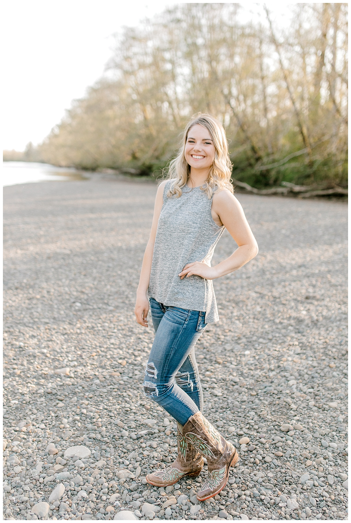 Sunset Senior Session with Horse | Senior Session Inspiration Session | Horse Photo Session | Pacific Northwest Light and Airy Wedding and Portrait Photographer | Emma Rose Company | Kindred Presets Posing Senior Session.jpg