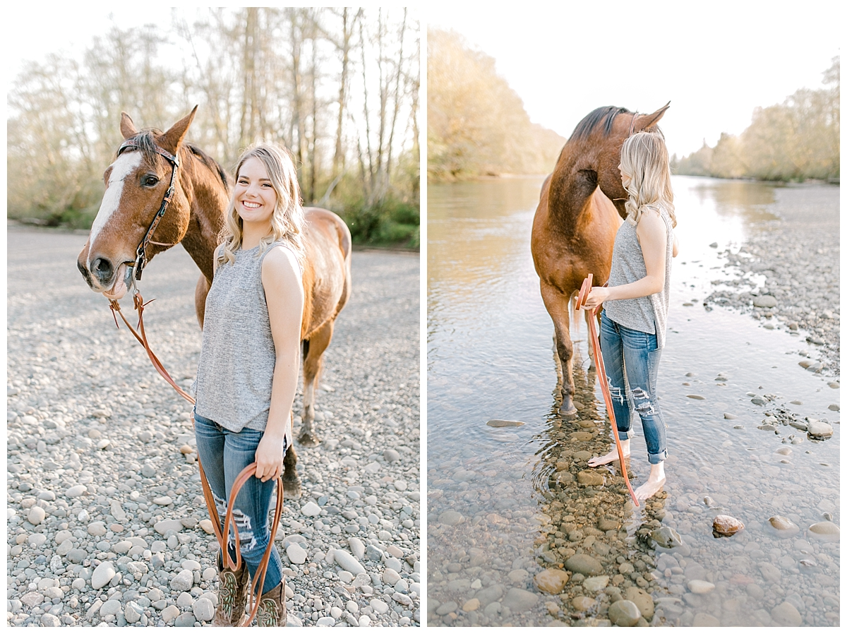 Sunset Senior Session with Horse | Senior Session Inspiration Session | Horse Photo Session | Pacific Northwest Light and Airy Wedding and Portrait Photographer | Emma Rose Company | Kindred Presets Personalized Senior Session Idea.jpg