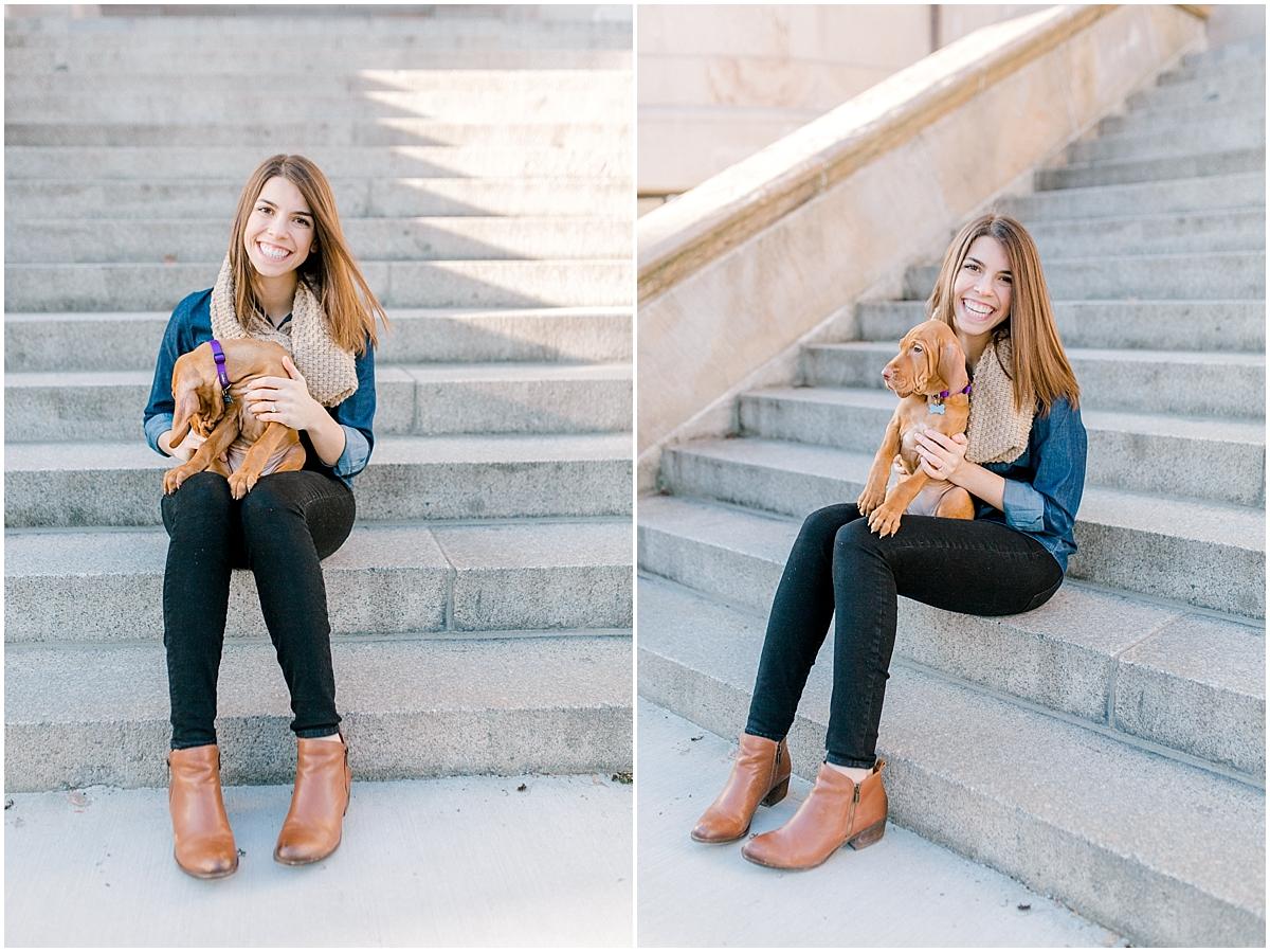 University of Washington Engagement Session | Denny Hall | UW | Seattle Engagement Session | Seattle Wedding Photographer | Emma Rose Company | Vizsla Puppy4.jpg