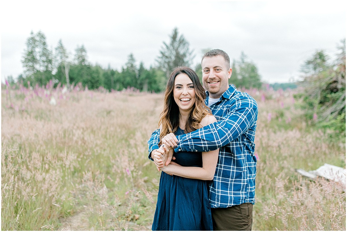 Beautiful Evening Engagement Session on Rose Ranch | Emma Rose Company Seattle and Olympia Wedding and Portrait Photographer | Engagement in Foxglove Field | Flowers | Pacific Northwest Wedding and Elopement Photographer-44.jpg
